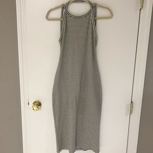 Urban Outfitters Striped Ribbed Midi Dress